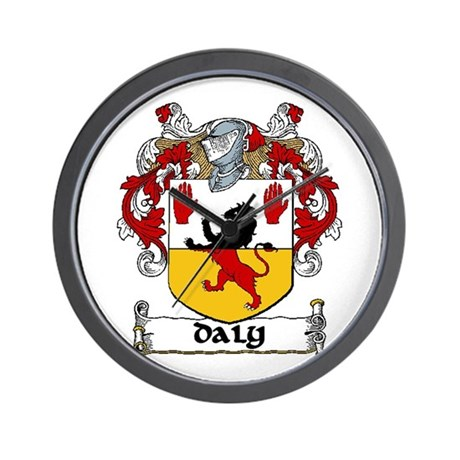 Daly Coat of Arms Wall Clock