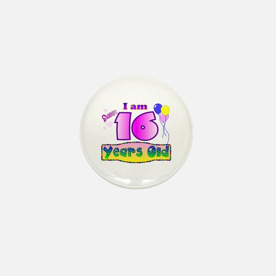 Sweet 16 Birthday Mini Button