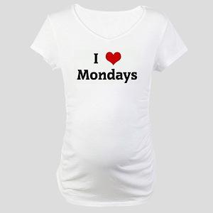 I Love Mondays Maternity T-Shirt