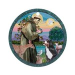 St Francis/Bernese Ornament (Round)