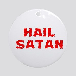 Hail Satan Ornament (Round)