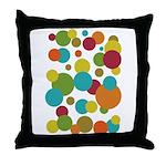 Retro Dots Throw Pillow