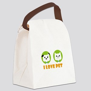 i love pet Canvas Lunch Bag