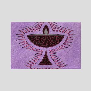 Purple Chalice Rectangle Magnet