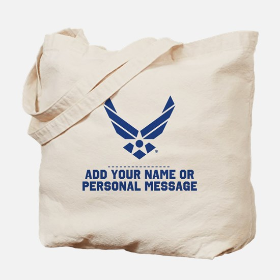 PERSONALIZED U.S. Air Force Logo Tote Bag