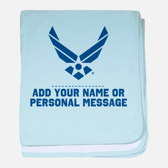 PERSONALIZED U.S. Air Force Logo baby blanket