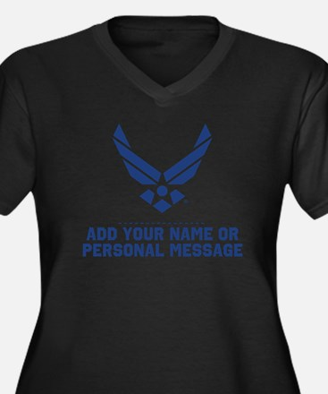PERSONALIZED U.S. Air Force Logo Plus Size T-Shirt