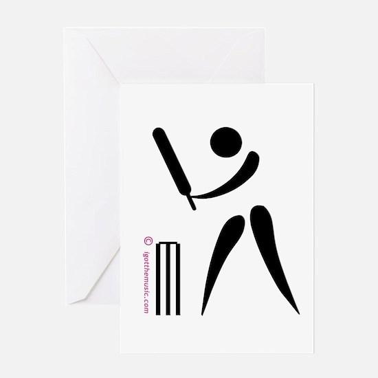 Cricket Black Greeting Card