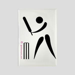 Cricket Black Rectangle Magnet