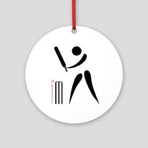 Cricket Black Ornament (Round)