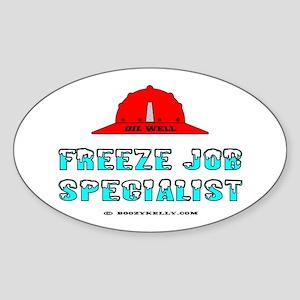 Freeze Job Specialist Oval Sticker