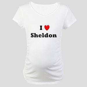I heart Sheldon Maternity T-Shirt