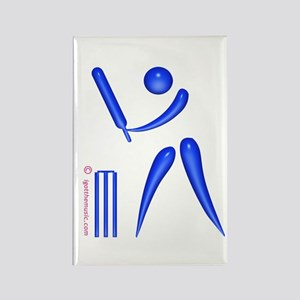Cricket Blue Rectangle Magnet