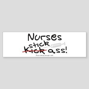 Nurses Stick Ass Bumper Sticker