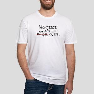 Nurses Stick Ass Fitted T-Shirt