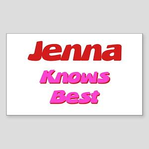 Jenna Knows Best Rectangle Sticker