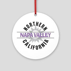 Napa Valley California Ornament (Round)