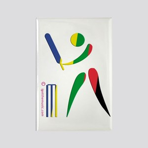 Cricket Olympic Rectangle Magnet