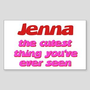 Jenna - The Cutest Ever Rectangle Sticker