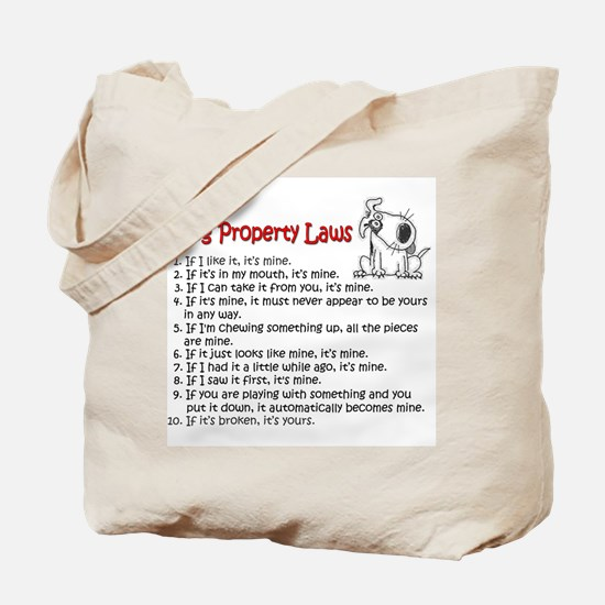 Dog Property Laws Tote Bag