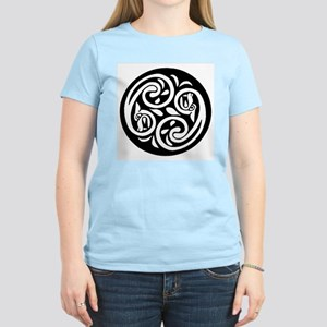 Celtic Dragon Ebb and Flow Women's Pink T-Shirt