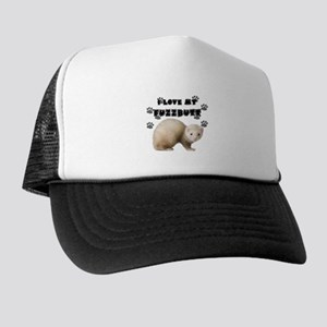I love my fuzzbutt. Trucker Hat
