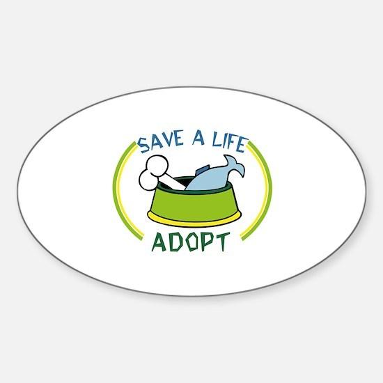 save a life, adopt Decal