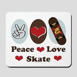 Peace Love Skate Skateboard Mousepad
