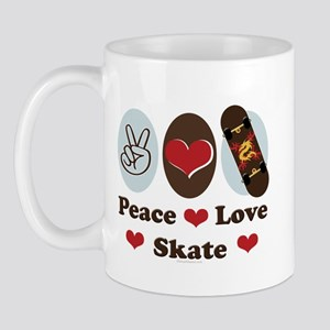 Peace Love Skate Skateboard Mug