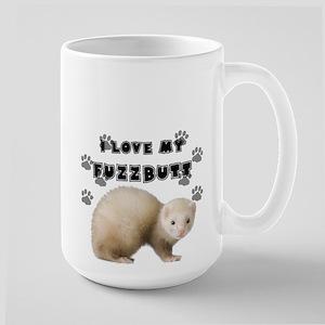 I love my fuzzbutt. Large Mug