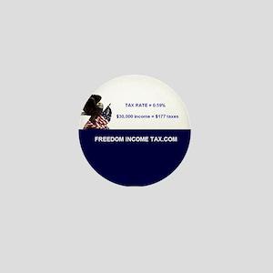 Freedom Income Tax Mini Button