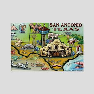 San Antonio TEXAS Map 11x17 Magnets
