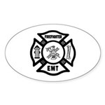 Firefighter EMT Sticker (Oval 10 pk)