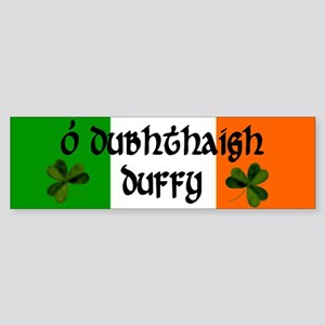 Duffy in Irish & English Bumper Sticker
