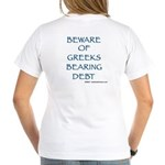 Go Greeks Women's V-Neck T-Shirt