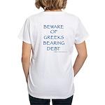 Go Greeks Women's V-Neck T-Shirt