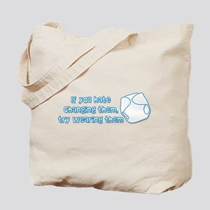 Wearing Diapers Tote Bag