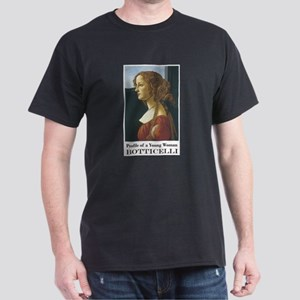 Portrait of Young Woman Dark T-Shirt