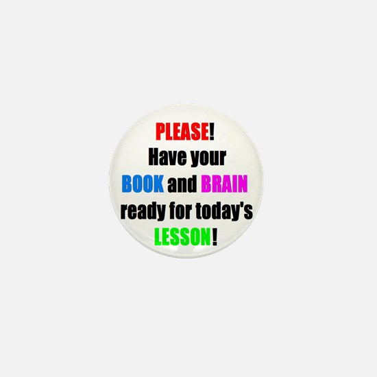 Have your BOOK and BRAIN read Mini Button