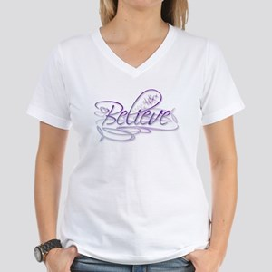Believe Women's V-Neck T-Shirt