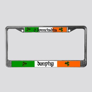 Dunphy in Irish & English License Plate Frame