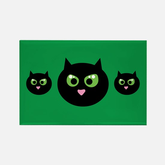 Angry Black Cat Rectangle Magnet