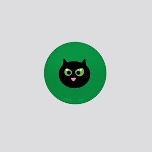 Angry Black Cat Mini Button