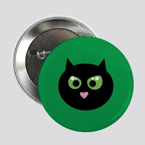 """Angry Black Cat 2.25"""" Button"""