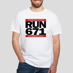 RUN 671 GUAM White T-Shirt