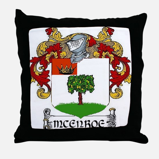 McEnroe Coat of Arms Throw Pillow