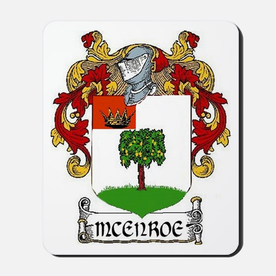 McEnroe Coat of Arms Mousepad