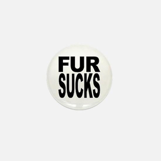 Fur Sucks Mini Button