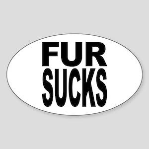 Fur Sucks Oval Sticker