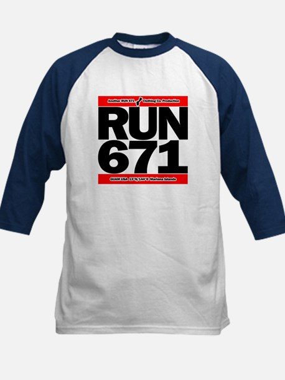RUN 671 GUAM Kids Baseball Jersey